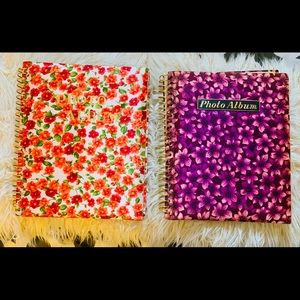 Other - 2 Vintage 1970s Satin flower print Photo Albums